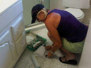 Mom Painting the Tile 2