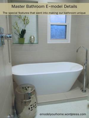 Feature Master Bathroom Details-tub-inside shower